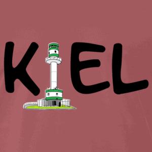 Kiel T-Shirt schwarzes Logo mit Friedrichsorter Leuchtturm