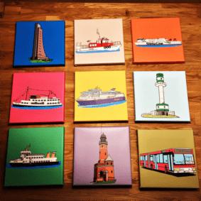 klein Kiel Malbuch Collage 9er