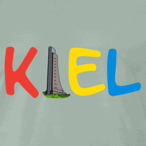 Kiel T-Shirt mit buntem Kiel Logo mit Laboer Ehrenmal