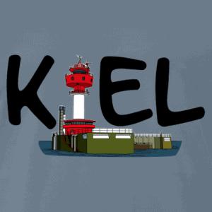 Kiel Shirt mit schwarzem Logo mit Kieler Leuchtturm
