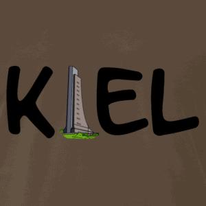 Kiel T-Shirt Logo schwarz mit Laboer Ehrenmal